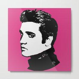 Elvis in the Pink Metal Print