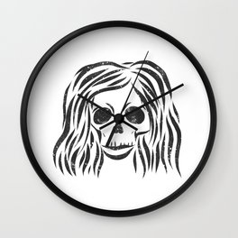 *Wild* - digital disstressed illustration Wall Clock