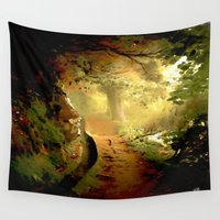fairytale Wall Tapestries featuring Fairytale by Nev3r