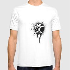 soul of a machine White MEDIUM Mens Fitted Tee