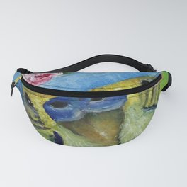 Parakeet Hat Parade #8 Millicent Fanny Pack