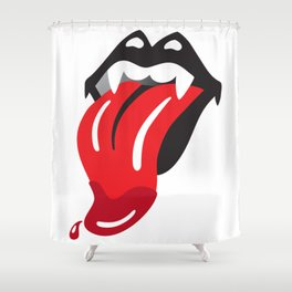 KISS Rolling Stones Tongue Mash-Up Gene Simmons Shower Curtain