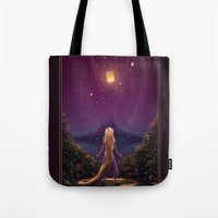 tangled Tote Bags featuring Tangled by Westling