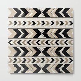 Tribal Arrow Boho Pattern #1 #aztec #decor #art #society6 Metal Print