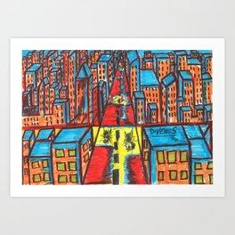 Manic City Art Print