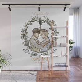 """White background illustration for video of song by Wilder Adkins, """"When I'm Married"""" Wall Mural"""