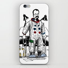 astronaut frank and drawing board... iPhone Skin
