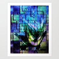 gengar Art Prints featuring Gengar Blix by Angela Chevelle