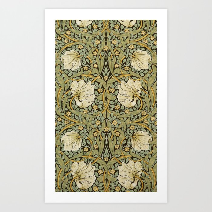 William Morris Pimpernel Art Nouveau Floral Pattern Kunstdrucke
