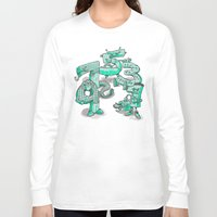 numbers Long Sleeve T-shirts featuring Odd Numbers by Nick Volkert