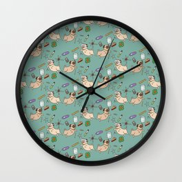 STEM pugs Wall Clock