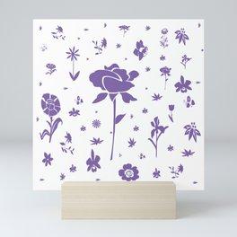 Floral Burst - Purple Mini Art Print