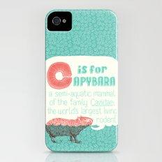 C is for Capybara iPhone (4, 4s) Slim Case