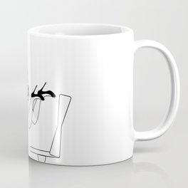 Drowning in The Digital World #society6 #buyart #lifestyle Coffee Mug