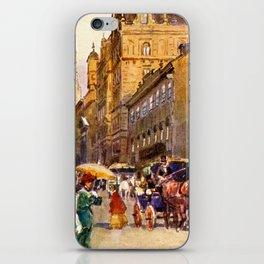 Great vintage belle epoque scene Vienna Austria  iPhone Skin