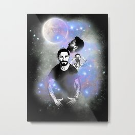 Three Shia Moon Metal Print