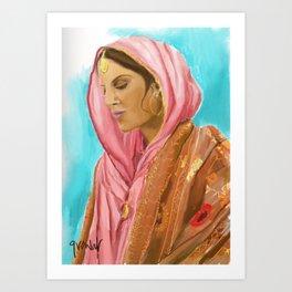 Punjabi Beauty Art Print