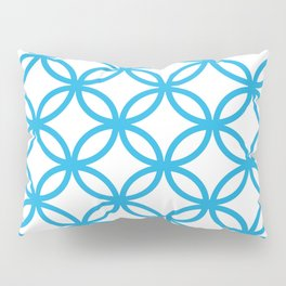 Interlocking Blue Pillow Sham