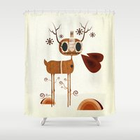 legs Shower Curtains featuring Ol' Tree Legs by Liam Smith