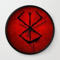 berserk Wall Clocks featuring The Berserk Addiction by DesignDinamique