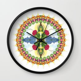 Divine Mother Mandala Wall Clock