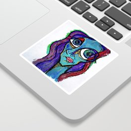 """Just another in my series of """"Blues."""" Sticker"""