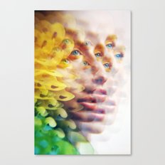 Bug Vision - Lush Vivid Multitudes of her Eyes and Face Canvas Print