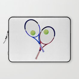Tennis Racket And Ball Doubles Laptop Sleeve