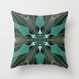 blue green star Throw Pillow