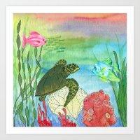 Sea Turtle Shores Art Print