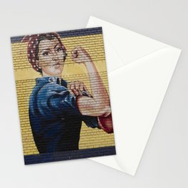 Rosie the Riveter Mural Stationery Cards