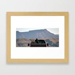 Truck Dogs Framed Art Print