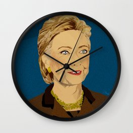 Hillary Clinton by Monica Ahanonu Wall Clock