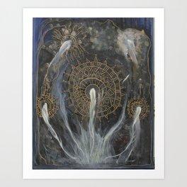 mycelium mandala Art Print