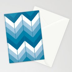 Herringbone - Blue Stationery Cards