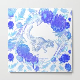 Beautiful Australian floral print with possum Metal Print