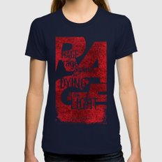 Rage Against the Dying of the Light 1 SMALL Navy Womens Fitted Tee