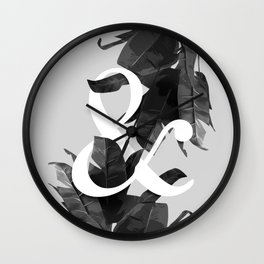 Botanical Ampersand Wall Clock