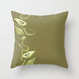 Avacodo flowers II Throw Pillow