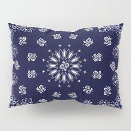 Paisley - Bandana - Navy Blue - Southwestern - Cowboy Pillow Sham