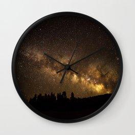 Above the Horizon - Milky Way Galaxy Above Treeline in Colorado Wall Clock