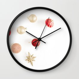 Christmas Background 07 Wall Clock