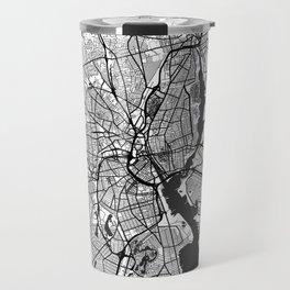 Providence Map Gray Travel Mug