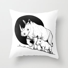 Mom and son Throw Pillow