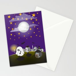 halloween hedgehogs party gang Stationery Cards