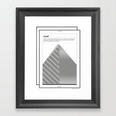 Moiré . (Spanish) Framed Art Print