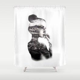 Vagabond // Fashion Illustration Shower Curtain