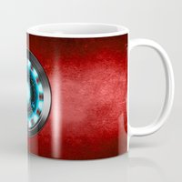 iron man Mugs featuring Iron Man Iron Man by ThreeBoys