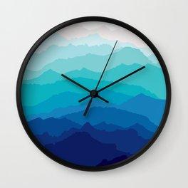 Blue Mist Mountains Wall Clock