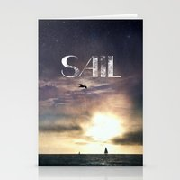 sail Stationery Cards featuring SAIL by Grafikki Shop